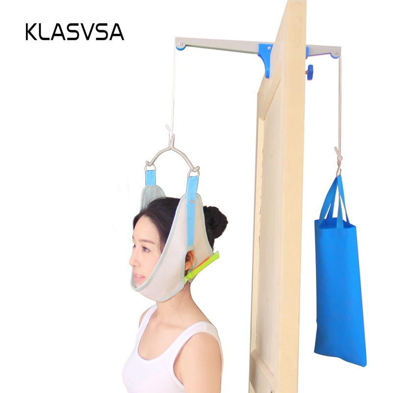 KLASVSA Over Door Cervical Traction Neck Massager Therapy Device Stretcher Chiropractic Posture Corrector Head Back RelaxationKLASVSA Over Door Cervical Traction Neck Massager Therapy Device Stretcher Chiropractic Posture Corrector Head Back Relaxation