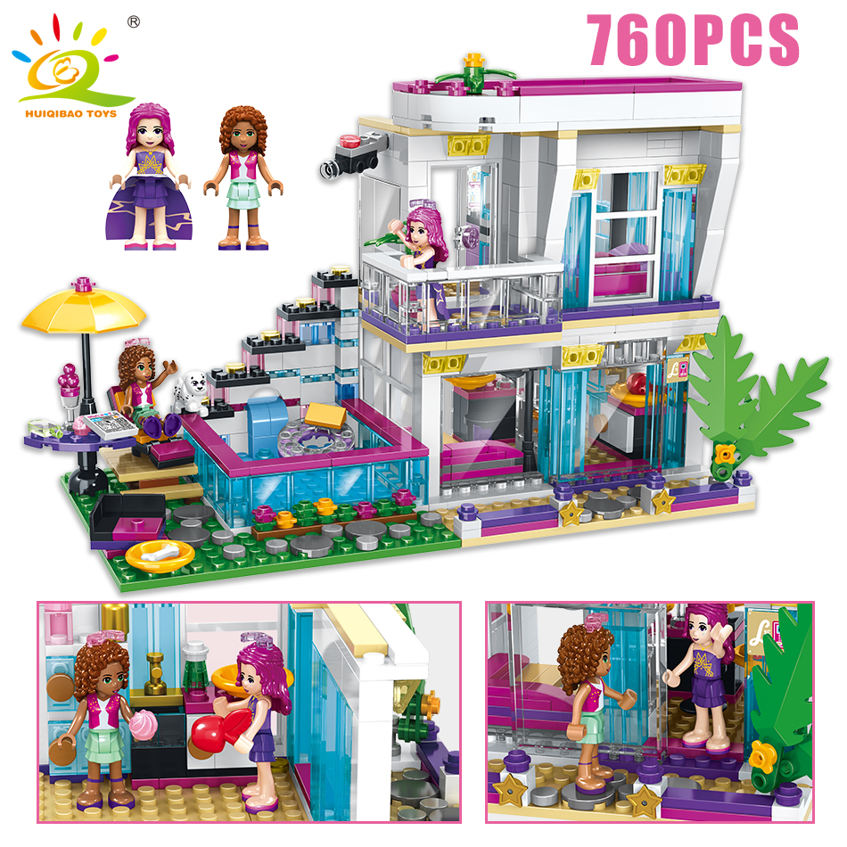 Skup Tanie 760pcs Pop Star Livi 039s House Building Block