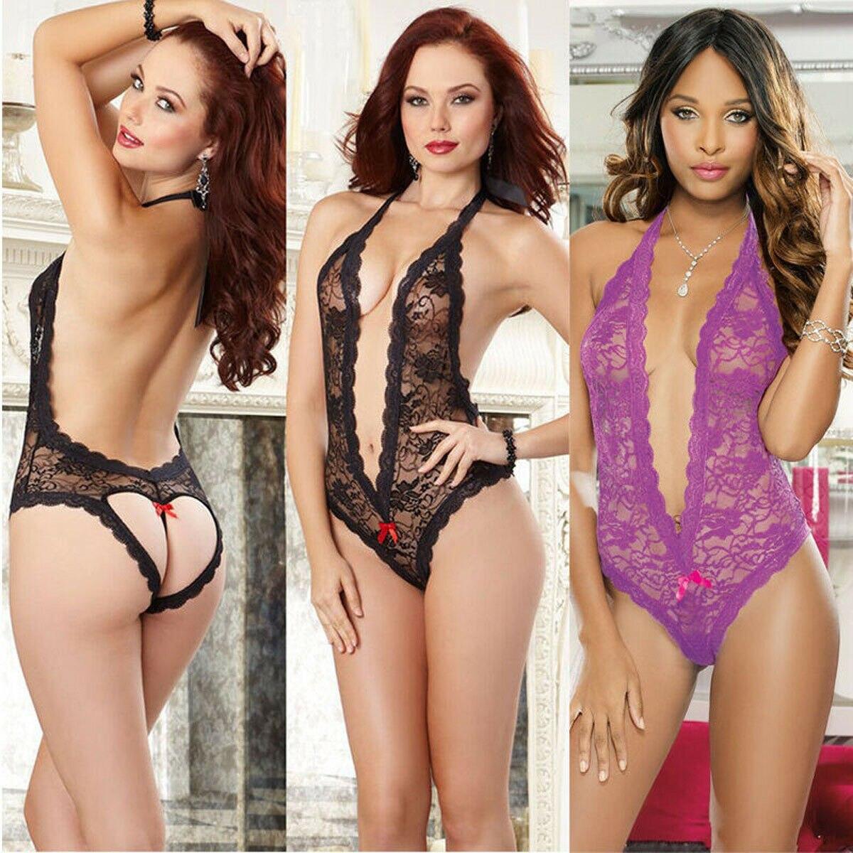 Women Sexy/Sissy Lingerie Babydoll G-String Lace Thong Underwear Nightwear