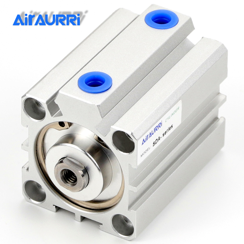 SDA series Pneumatic Compact air Cylinder 25mm Bore to 5 10 15 20 25 30 35 40 45 50mm Stroke High quality double acting cylinderSDA series Pneumatic Compact air Cylinder 25mm Bore to 5 10 15 20 25 30 35 40 45 50mm Stroke High quality double acting cylinder