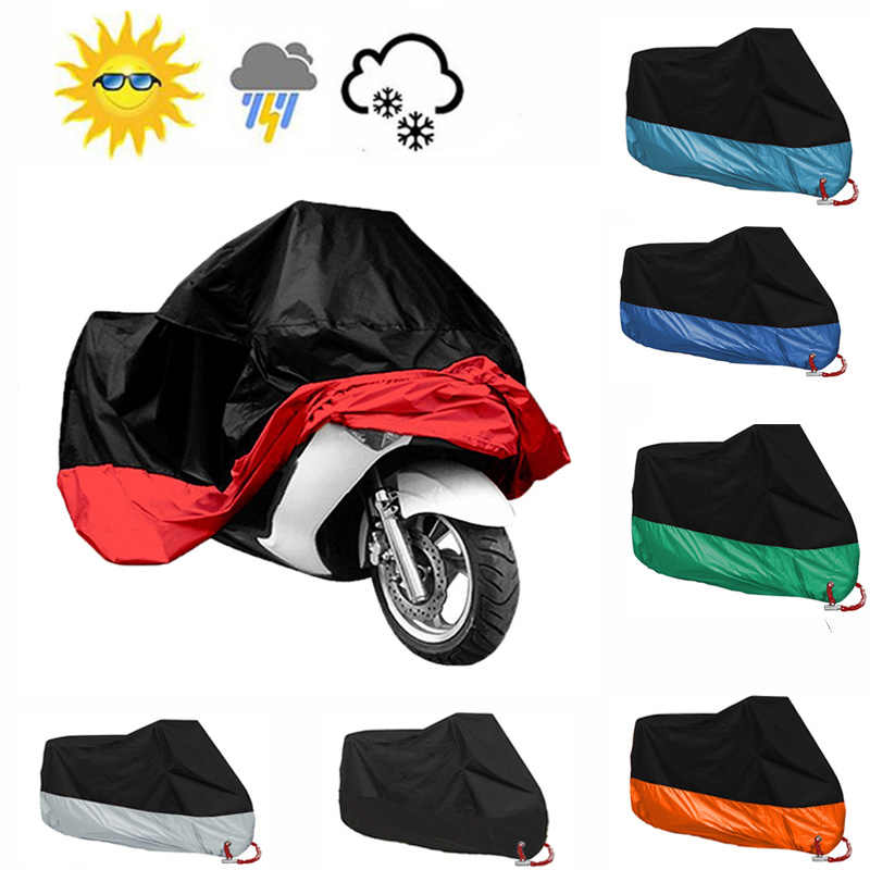 Motosiklet örtüsü açık ATV Scooter toz geçirmez su geçirmez güneş motosiklet koruyucu araba kılıfı dayanıklı yağmur koruyucu Coque