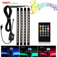 car led strip Atmosphere waterproof lights 5050 4 in 1 36leds USB DC5V music sync RGB color change with rhythm