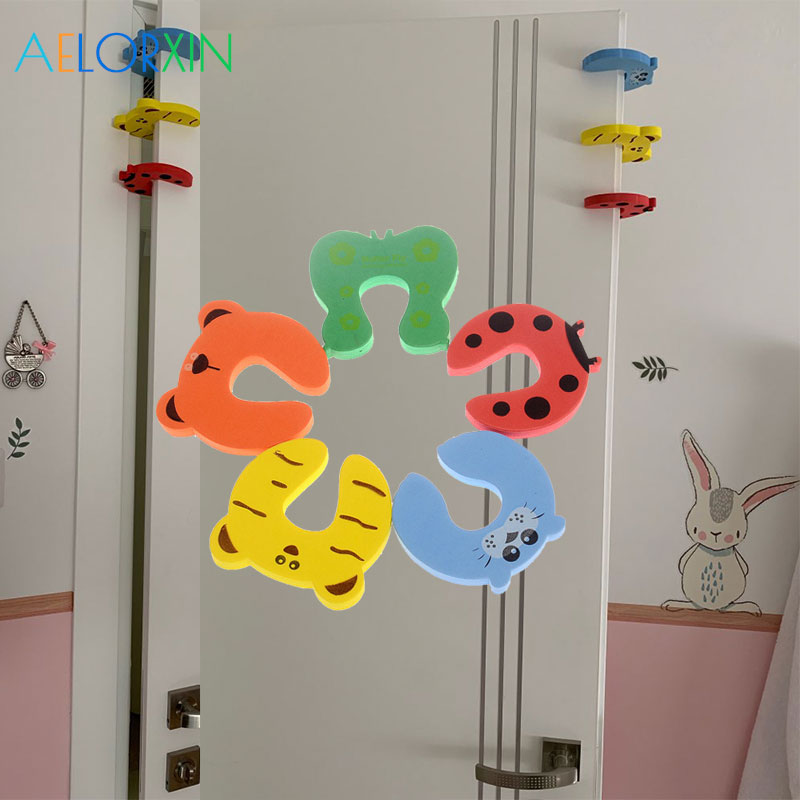 Cabinet Locks & Straps Apprehensive 5pcs/lot 5 Colors Baby Child Safety Protection Cute Animal Security Door Card Stopper Door Lock For Children Cabinet Lock Fine Workmanship