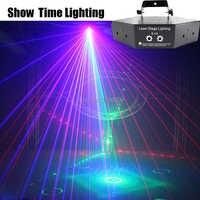 Показать время 6 объектив DMX красный зеленый синий RGB луч 16 моделей лазерный сканер свет для домашней вечеринки DJ сценическое освещение KTV шо...
