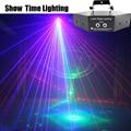 Show Time 6 Lens DMX Rood Groen Blauw RGB Beam 16 Patronen Laser Scanner Light Thuis Party DJ Stage Verlichting KTV Tonen Sector laser