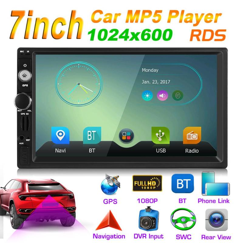 VODOOL Car GPS Navi Multimedia Player 5202 7 0 Inch 2Din RAM6688 Car Stereo MP5 Player