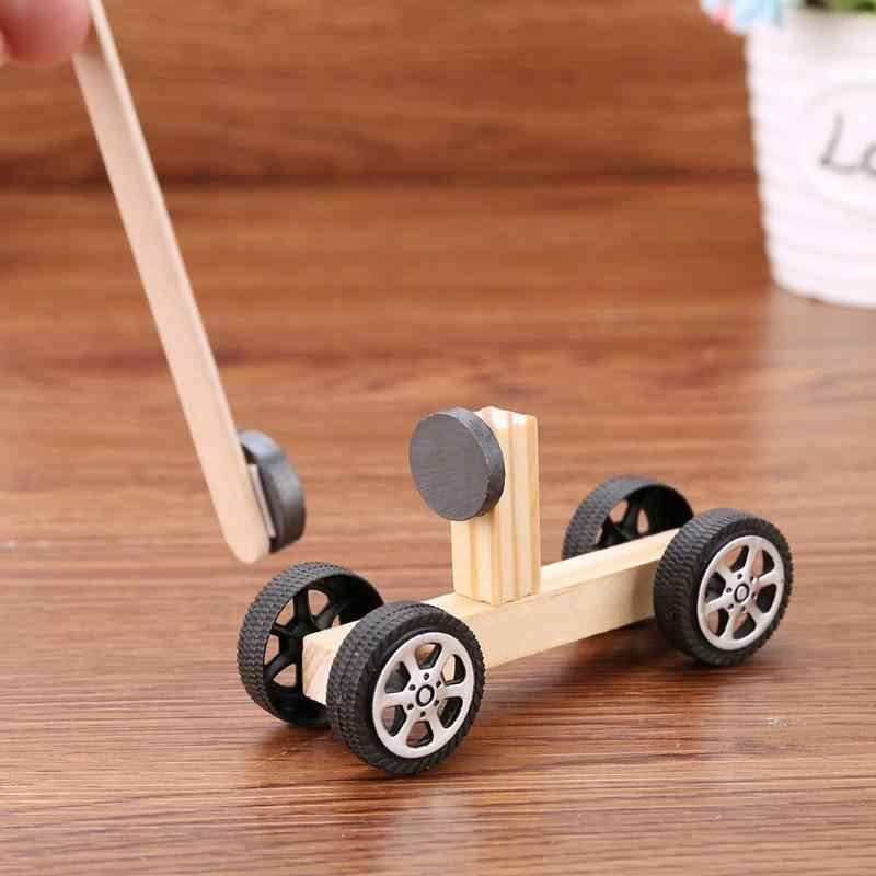 Children Technology Physics Experiment Material  DIY Inventions Manual Magnetic Car Vehicle Pupils Kits house Educational Toys