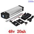 48 v 1000 w батарея 48 v 20ah Электрический велосипед батарея 48 v 20ah литиевая батарея в упаковке использовать сотовый телефон LG с 30A BMS и 54,6 V 2A зарядно...