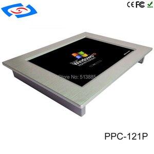 Image 3 - 12.1 cal bez wentylatora panel przemysłowy PC 4 * com tablet z ekranem dotykowym obsługa komputera PC windows xp/windows10 systemu