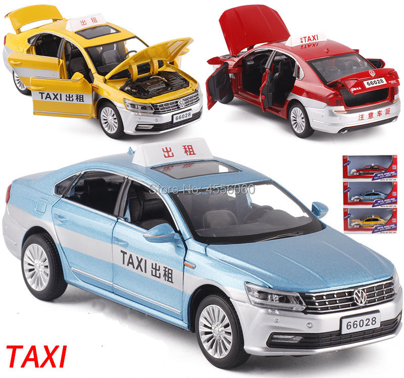 Die-cast Vehicle Metal Taxi Car Model Boy's Toy Gifts