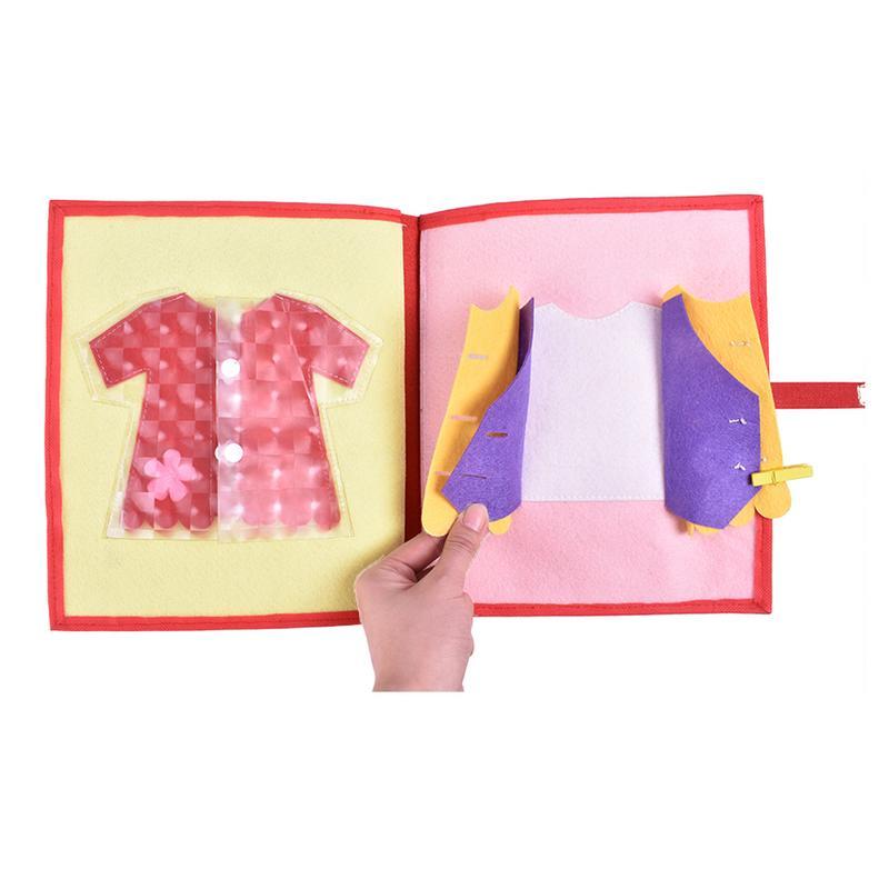 Livre en tissu doux pour enfants 3D livre à pansements Non tissé Puzzle d'intelligence manuel livre de jouets pour enfants - 5