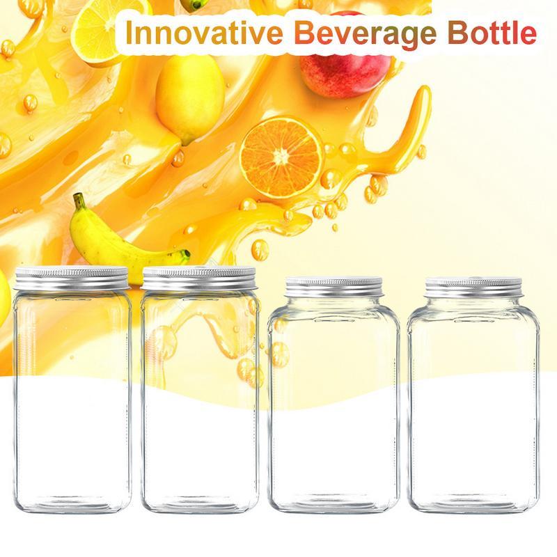 500ML Innovative Food Grade Plastic Beverage Bottle Juice Cold Tea Bottle Mason Jar Garrafa Food Container Canister Vape Juice