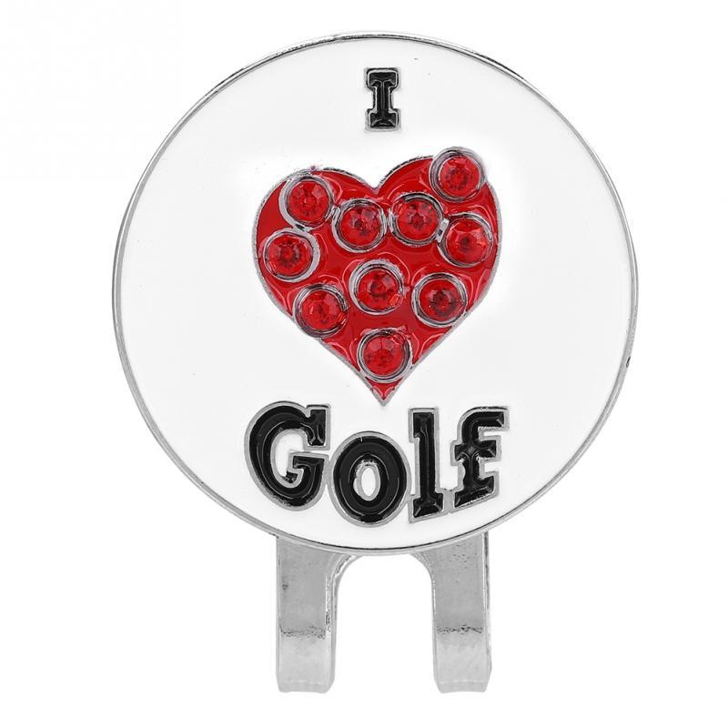 Durable Magnetic Golf Ball Metal Marker Golfer Hat Visor Clip Golf Training Aids Golf Hat Clip Golf Training Aids Accessory