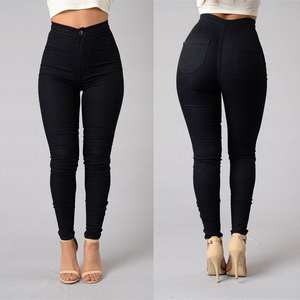 Stretch Jeans Pants Pencil-Trousers Jeggings Skinny Slim High-Waist Women Denim Hot-Sale