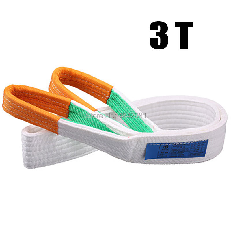3Tx1m-8m Lifting Webbing Sling Towing Rope Tow Webbing Sling Lifting Sling