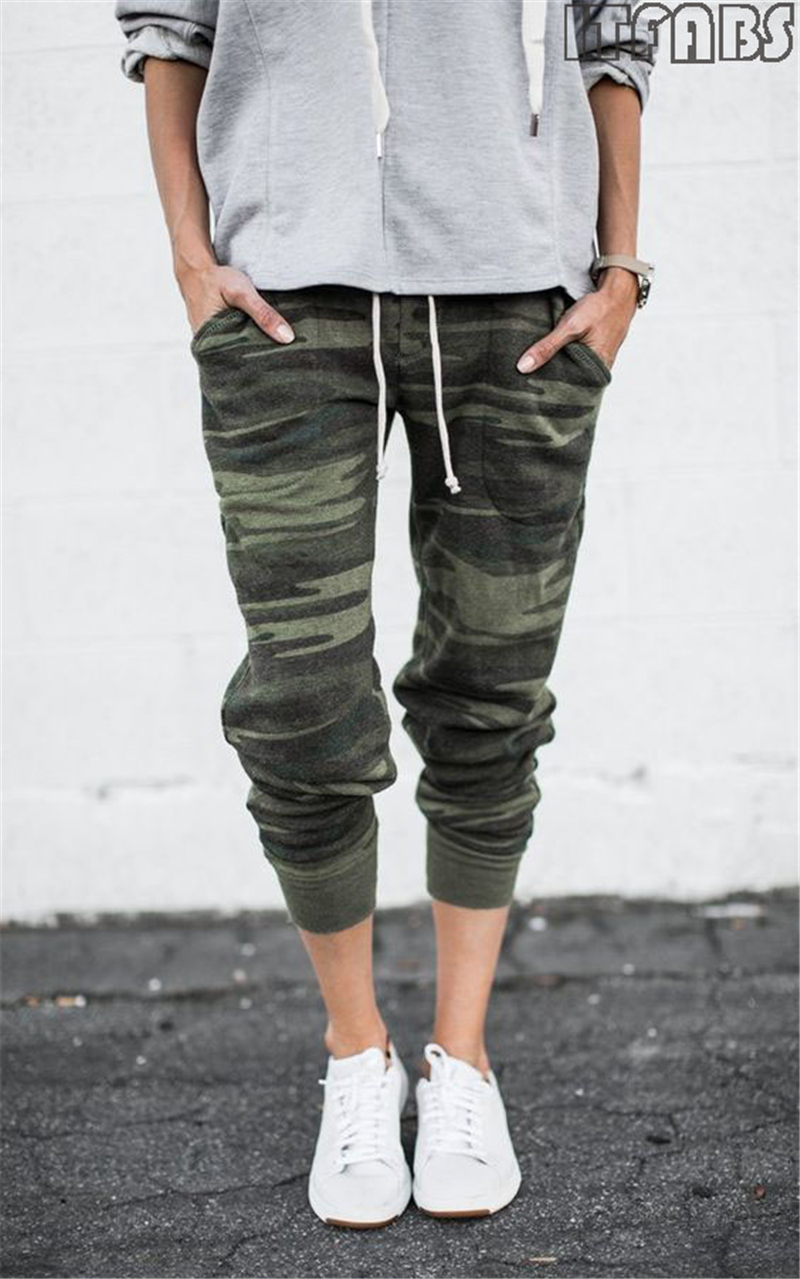 d0c2861c76b Women Camouflage Jogger Pants Ladies Camo Print Cotton Sweatpants Joggers  Drawstring Elastic Waist Casual Harem Pants Plus Size