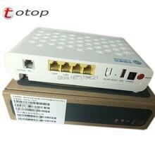 최고 품질 ZTE ZXHN F623 GPON ONU 1GE + 3FE + 1 음성 + USD + WIFI, 영어 버전 fibra optica GPON ONT 라우터