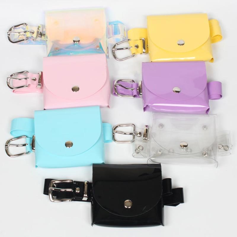 IMOK Fashion Women's Waist Bag Belt Color Designer Transparent Bags for Women Jelly Fanny Bag Mini Summer Handbag