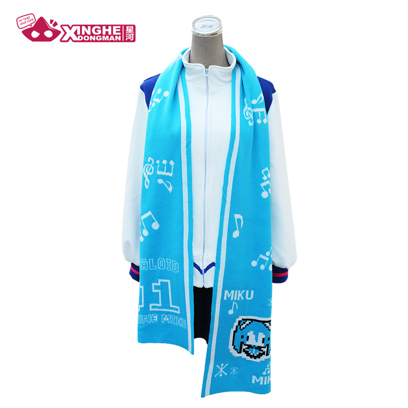 Milky Way Anime Hatsune Miku Scarf Cute Scarf Knitted Warm Long Blue Scarf For Girl Unisex Gift Miku