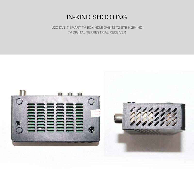 HD 1080p Tv Tuner Dvb T2 Vga TV  Dvb-t2 For Monitor Adapter USB2.0 Tuner Receiver Satellite Decoder Dvbt2 Russian Manual