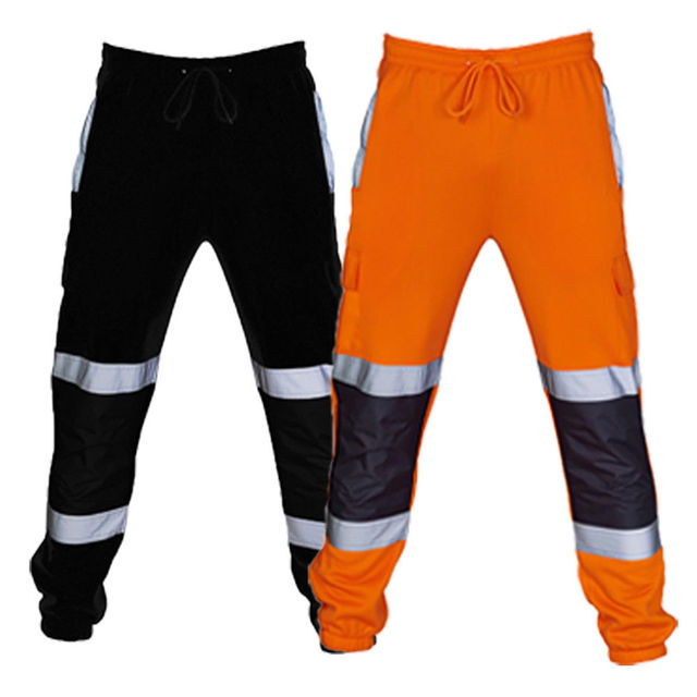 Outono Novos Homens Casuais Calças Calças Compridas Casual Treino Reflexivo Calças Corredores Sweatpants Streetwear Moda Plus Size