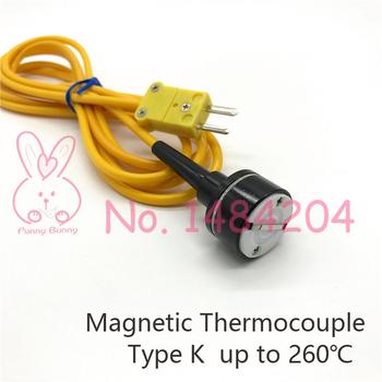 Termopara magnetyczna typ K-50 ~ 260 stopni ręczna sonda czujnika temperatury powierzchni DIA 23mm przewód pcv 2 metry ze złączem tanie i dobre opinie Han Shine ELECTRICAL CN (pochodzenie) Analog signal TSK0023