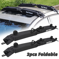 2 Pieces Car Soft Roof Rack Luggage Carrier Rack Black Fold Oxford Load 60kgs Exterior Accessories
