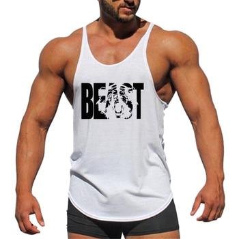 MYTL Muscleguys Cotton Mens Gym Tank Tops Men Sleeveless Shirt For Boys Bodybuilding Clothing Undershirt Fitness Stringer Vest