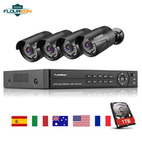 Floureon 8CH CCTV DVR Kit 4PCS 3000TVL Outdoor Waterproof Cameras 1TB HDD 1080P Video Surveillance Security System Cam NVR Set