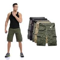 2019 Mens Bodybuilding Beach Military Cargo Shorts men Multi pocket Pure Cotton Casual Male Pocket sweatpants Free shipping