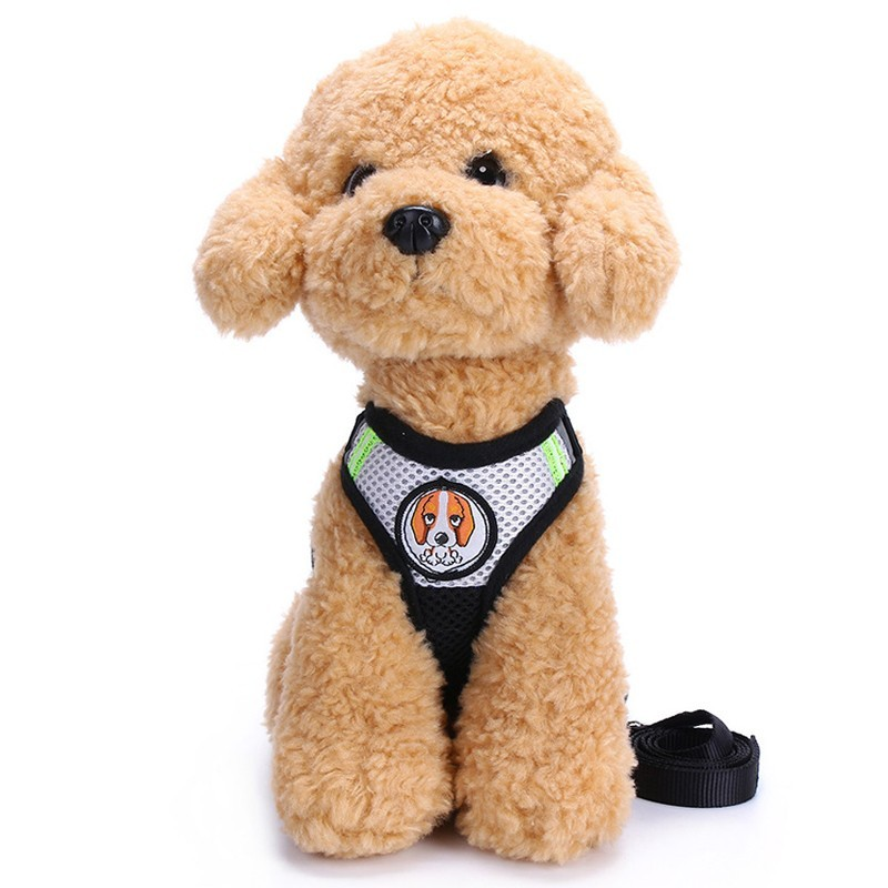 Cute Harness For Dog Vest Adjustable Walking Leash Set Nylon Breathable Mesh Pet Product in Small Medium Large Dogs Cat Supplies in Harnesses from Home Garden