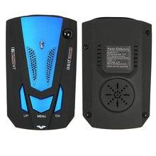 Автомобильный антирадарный детектор для автомобиля V7 голосовое предупреждение о скорости 16 полосный светодиодный дисплей детектор английский/русский
