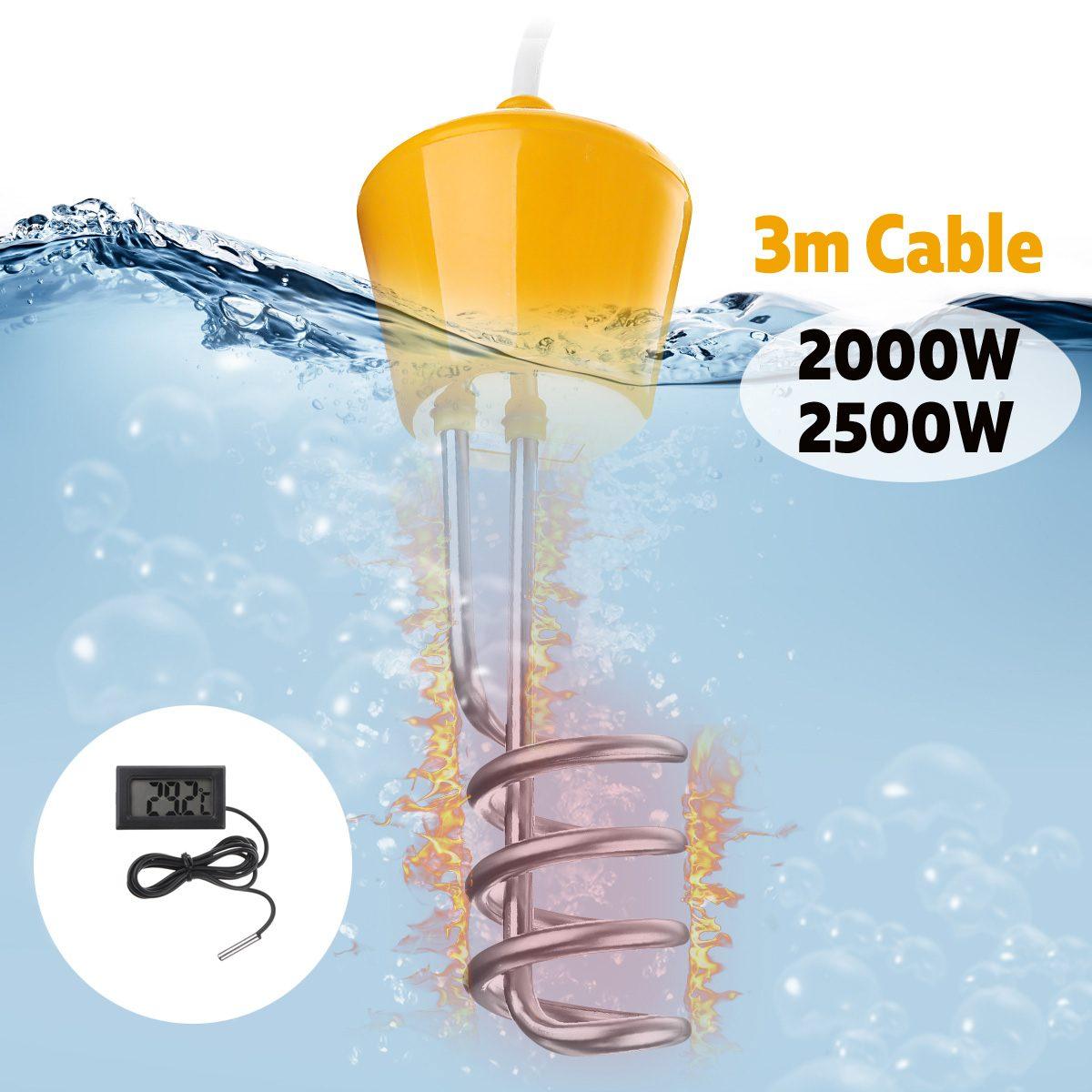 2019 Mode 2000 W/2500 W Tragbare Suspension Elektrische Immersion Wasser Heizung Element Kessel Für Aufblasbare Pool Badewanne Reise Camping Reise SchöN Und Charmant