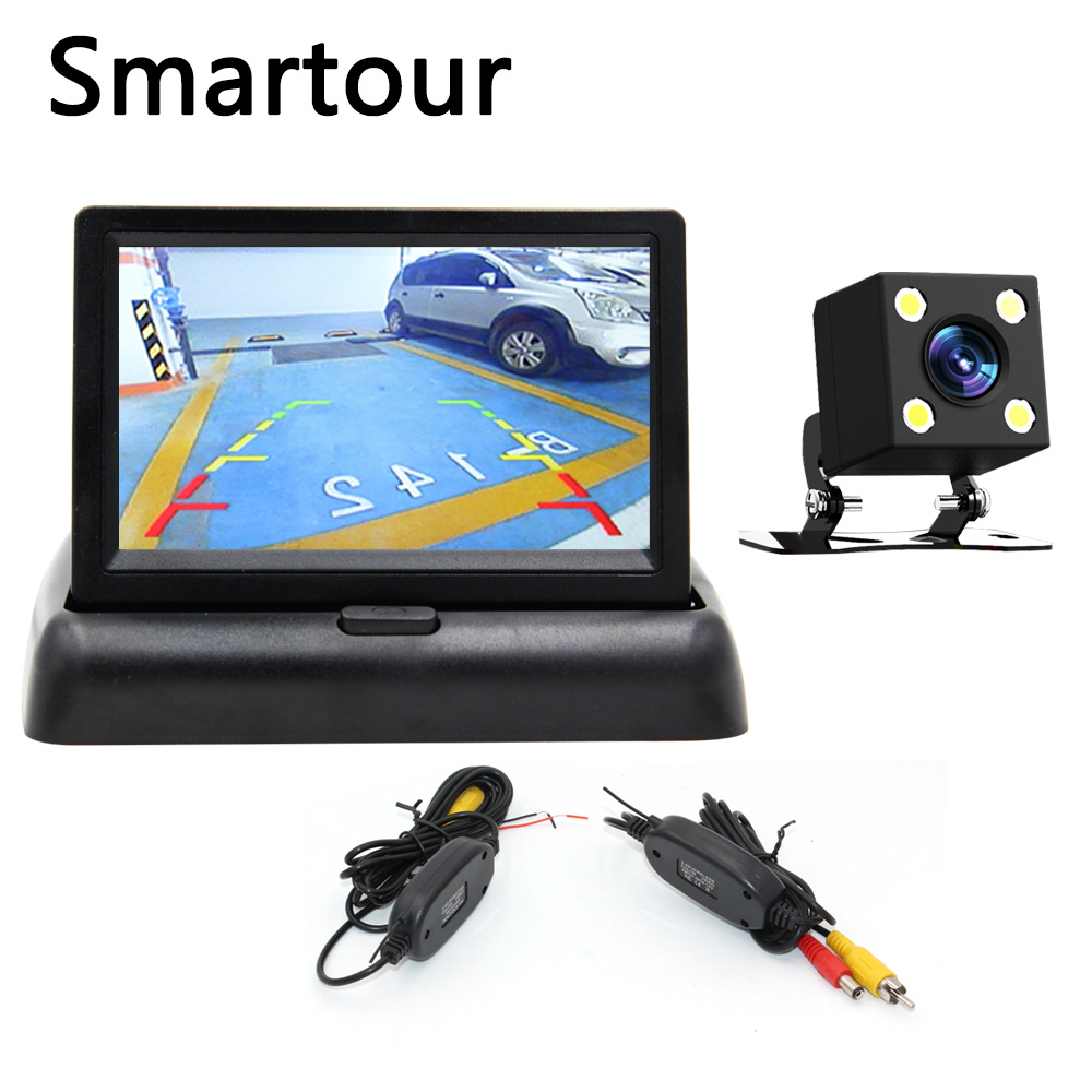 Smartour 5 Inch TFT LCD Car Monitor Foldable Monitor Display Reverse Camera Parking System for Car Rearview Monitors ccd все цены