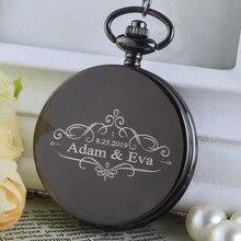 Personalised New Arrival Retro Wedding Theme Bronze Quartz Pocket Watches Vintage Christmas Birthday Gift