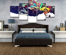 5 Piece Canvas Art Higher Thoughts Cuadros Decoracion Paintings on Wall for Home Decorations Decor Picture