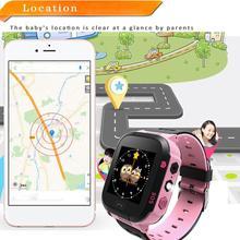 1,44 дюймов сенсорный экран LBS позиционирование дистанционного мониторинга умные часы Детские умные часы наручные часы Освещение SOS часы SIM звонки