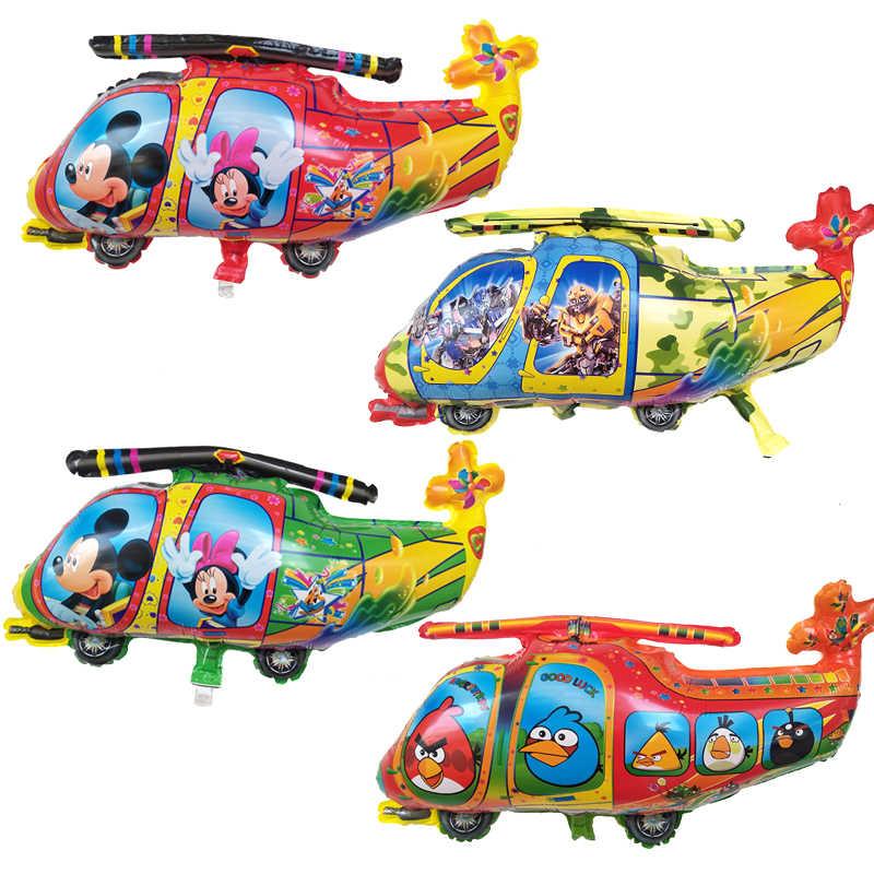 5 шт./лот с Микки Маусом Минни воздушные шарики вертолеты День рождения для украшения детского душа Свадебные воздушные шарики Набор детских игрушек