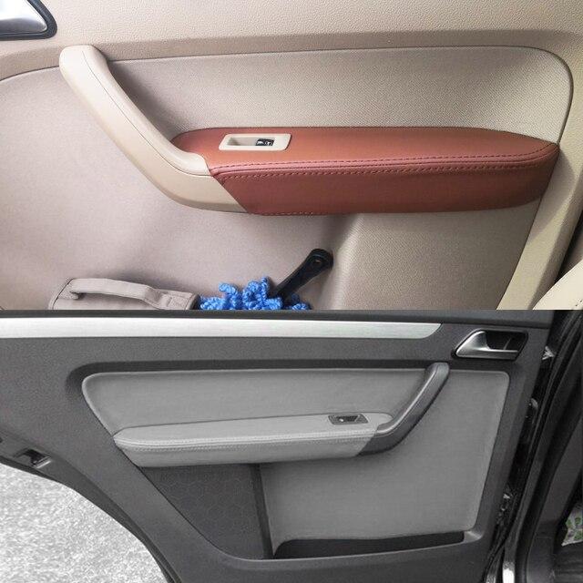 Per VW Touran 2006 2007 2008 2009 2010 2011 2012   2015 4pcs del Portello di Automobile Pannello/Porta Bracciolo in Pelle microfibra Copertura