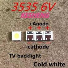 Sharp aplicação tv led retroiluminação lcd para tv led backlight 1.2 w 6 v 3535 3537 branco fresco gm5f20bh20a 2000 pces