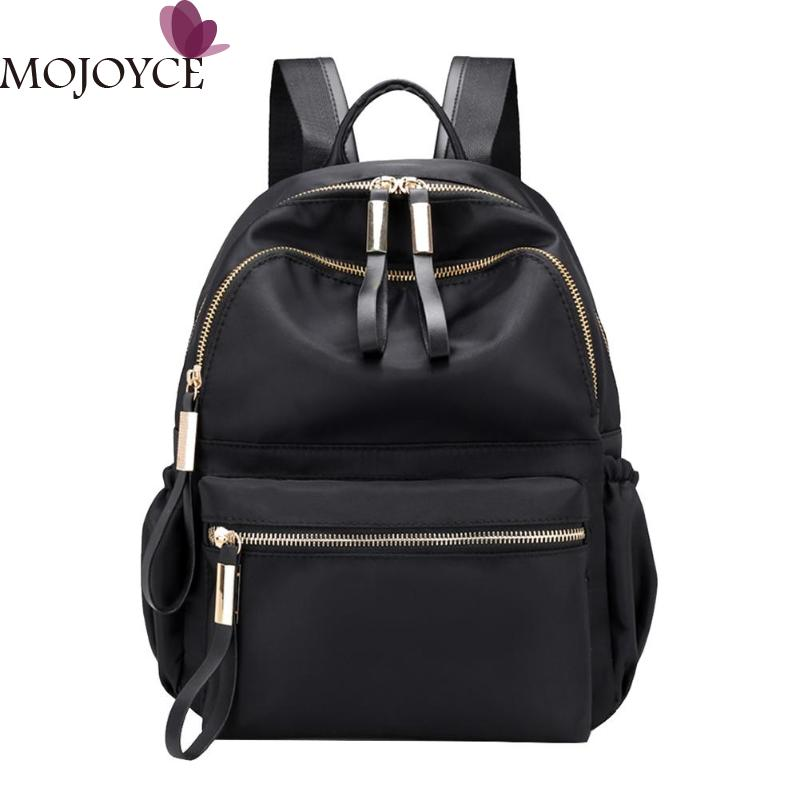 Women Large Capacity Backpack Preppy Nylon Solid Shoulder Travel SchoolbagsWomen Large Capacity Backpack Preppy Nylon Solid Shoulder Travel Schoolbags
