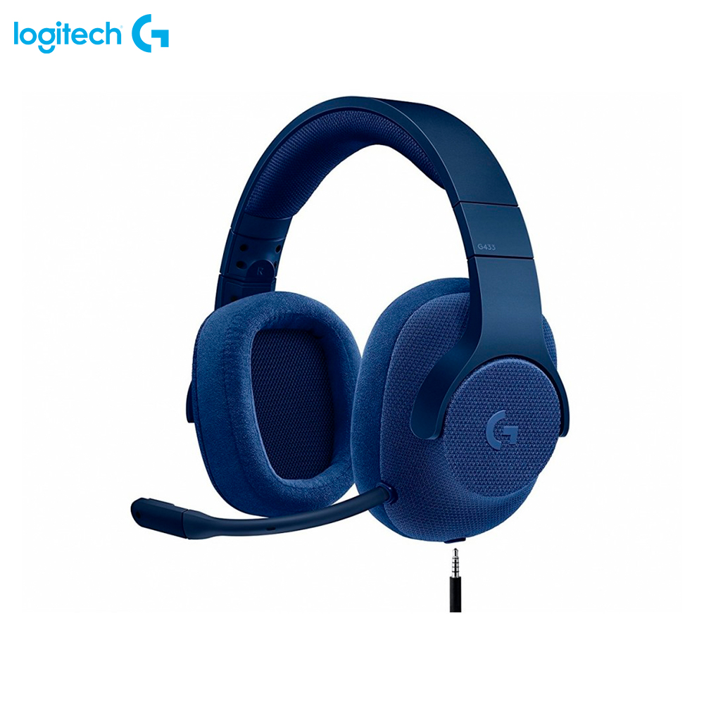 Earphones & Headphones Logitech G433 Blue 981-000687 computer wired wireless headset gaming original xiberia v10 usb gaming headphones vibration led stereo around gaming headset headphone with microphone mic for pc gamer