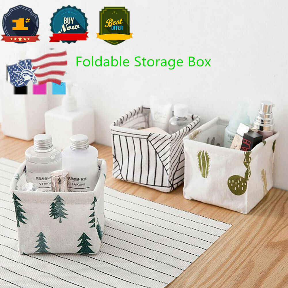 2019 Newest Hot Storage Bin Closet Toy Box Container Organizer Fabric Basket Linen Basket