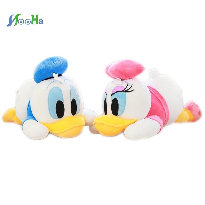 Sostenga la almohada en el muñeco Donald Duck de Daisy. Juguetes de peluche Muñeca Niños Regalo de cumpleaños Mujer grande 38 cm / 50 cm