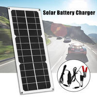 10W 12V Solar Panel for Boat Roof RV Car Battery Charger Flexible Mono Module
