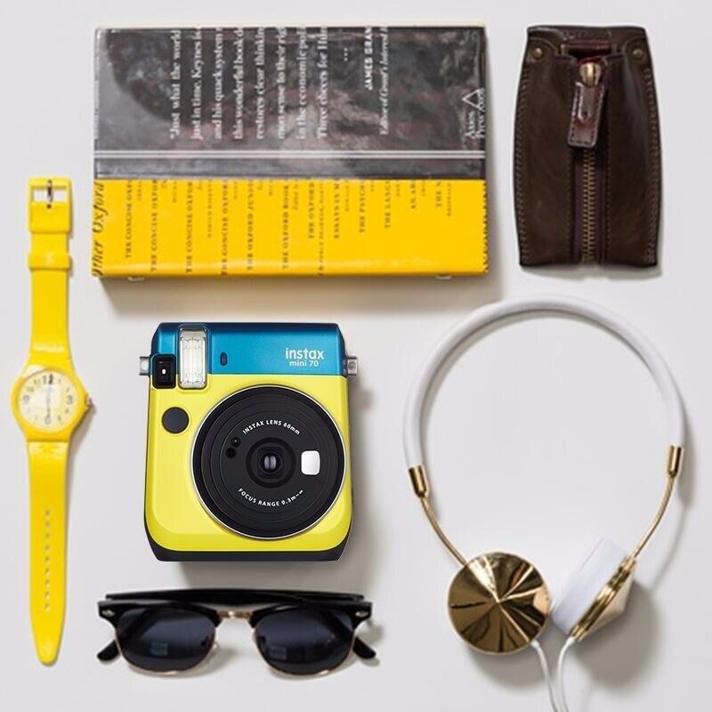 6 couleurs bloquant l'appareil Photo instantané Fujifilm Instax Mini 70 rouge noir bleu jaune or blanc - 5