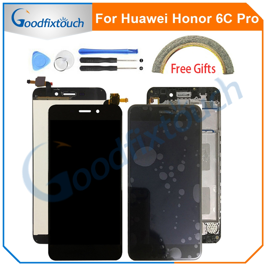 For <font><b>Huawei</b></font> <font><b>Honor</b></font> <font><b>6c</b></font> <font><b>Pro</b></font> JMM-L22 JMM-L22 JMM-AL10 AL00 <font><b>LCD</b></font> Display <font><b>Touch</b></font> Screen Digitizer Assembly With Frame For <font><b>Honor</b></font> <font><b>6c</b></font> <font><b>Pro</b></font> image