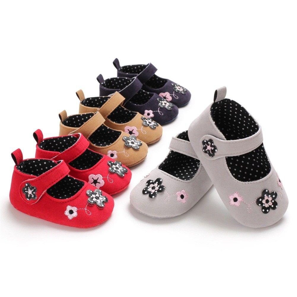 Shoes Prewalker Soft-Soled-Shoes Toddler Newborn-Baby Infant Girls Princess Floral Embroidery