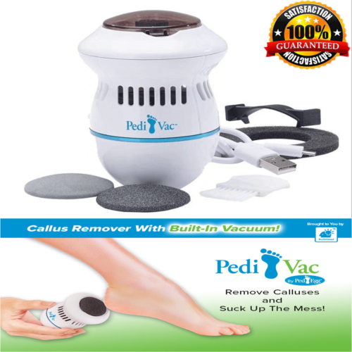 Pedi Vac Automatic Exfoliating Grinding Sucking Dead Skin Vacuum Cleaner Foot Rotating Foot Skin Care Massage New