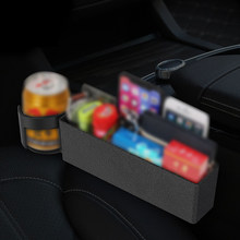 Storage Box Car Organizer Seat Leather Case Pocket Car Seat Side Slit Container Automobiles Stowing Box Accessories(China)